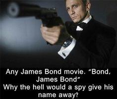 Films loopholes in Any James bond movie