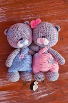 Crochet pattern Teddy Bears in Pants por magicfilament en Etsy