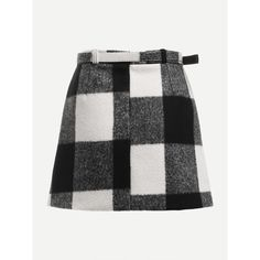 Check Plaid Asymmetrical Front Layer Skirt ❤ liked on Polyvore featuring skirts, checked skirt, double layer skirt, layered skirt, checkerboard skirt and plaid skirts