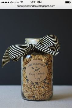 Nice packaging for my homemade Granola that I was thinking of giving as gifts.