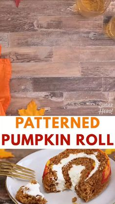Sweets Recipes, Fall Recipes, Snack Recipes, Pumpkin Recipes, Pumpkin Roll Cake, Pumpkin Spice, Leaf Decoration, Fall Cakes, Cream Cheese Filling