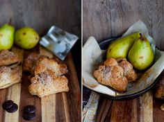 Adorable puff pastry clouds stuffed with pears + chocolate via Murmures.