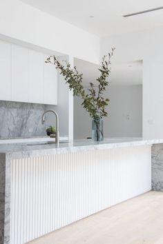 Marble Benchtop, Kitchen Benchtops, Splashback, Kitchen Cabinets, Timber Kitchen, Stone Kitchen, Home Decor Kitchen, Kitchen Interior, Kitchen Ideas