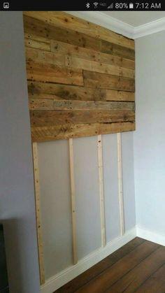 Pallet board wall