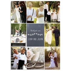 Danksagungskarten Hochzeit - Blumenkrone