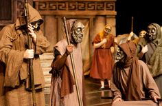 Ancient Greek Costumes, Masks And Theatre In Focus