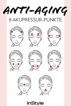 Akupressur gegen Falten: Drückst du diese 8 Punkte, wird deine Haut straffer Acupressure against wrinkles: If you press these 8 points, your skin becomes firmer and wrinkle-free. Beauty Care, Diy Beauty, Beauty Skin, Beauty Hacks, Beauty Tips, Beauty Ideas, Homemade Beauty, Beauty Products, Face Beauty