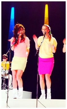 """Marley and Brittany as Girl Wham in Glee Season 4, Episode 17: """"Guilty Pleasures"""""""
