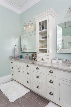 48'' morden gray bathroom vanity, elegant mirror with frame. black