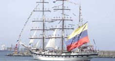 Simon Bolivar, Got to board this ship during OP sail in Norfolk, VA Tall Ships, Water Crafts, Sailing Ships, Yachts, Norfolk, Transportation, Eagle, Sea, Hale Navy