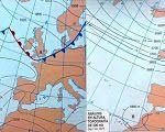 Mapa del Tiempo Resuelto, situación anómala de Gota Fría en el Mediterráneo.