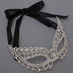 Rhinestone Crystal Masquerade Mask