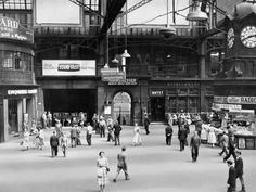 size: Photographic Print: Glasgow Central Station, Looking East Towards the Union Street Entrance, 1955 : Subjects Glasgow Museum, Glasgow City, Glasgow Subway, Glasgow Central Station, Elderly Activities, Glasgow Scotland, Newcastle, Great Britain, New Pictures