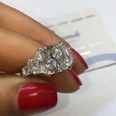 10 Carat Diamond Ring, 3 Diamond Engagement Rings, 3 Stone Diamond Ring, Colored Diamond Rings, Cushion Cut Diamond Ring, Beautiful Diamond Rings, Cushion Cut Engagement Ring, Cushion Ring, Cushion Cut Diamonds