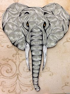 Quilling elefante arte enclavijada marco 8 x 10 Ideas Quilling, Quilling Images, Arte Quilling, Quilling Work, Paper Quilling Jewelry, Paper Quilling Patterns, Quilled Paper Art, Quilling Paper Craft, Paper Crafts