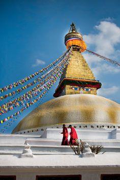 Boudhanath Stupa, temple in Nepal. Photo taken by OAT traveler Lynda Thorstrom.