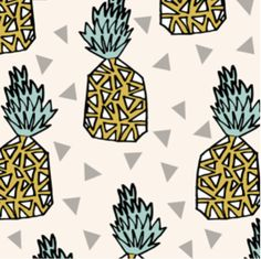 Spoonflower's Pineapple fabric designed by Andrea by Spoonflower