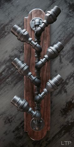 Industrial Pipe Wine Rack Bottle Holder by LTPCreations on Etsy