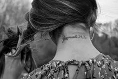 This is one of my fav. bible verses and I like how this tattoo is simple :)