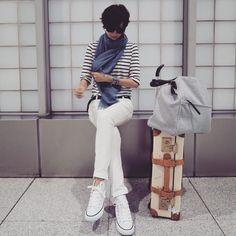 土曜日wardrobe 関西旅はスニーカーでした☺︎ #ootd #outfit #私服