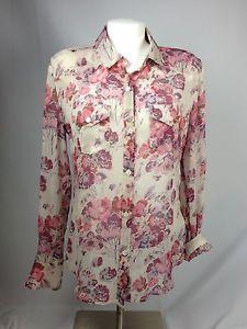 True-Religion-Georgia-Sheer-Woven-Silk-Button-Down-Shirt-Size-M-MSRP-168-M-1