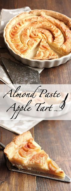 This Apple Tart has a hidden layer of delicious homemadealmond pasteunderneath the apples. It is a wonderful dessert for Fall and will for sure be a hit at any of your holiday dinner parties. | wildwildwhisk.com