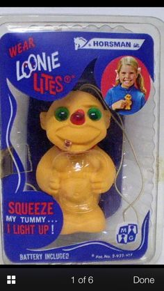 Vintage 1968 Loonie Lites Troll Doll Exc In Original