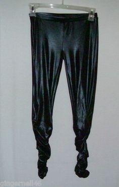 Max Azria Junior Size S Leggins Scrunced Liquid Black Miley Cyrus New w/ Tag free shipping