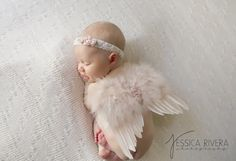 Vintage Blush Angel Baby Wings and/or Matching Vintage Lace Headband, for newborns, photo shoots, photographers, baby photo, baby girls