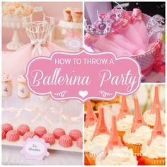 Look no further for great ideas for hosting the perfect Ballerina party. See more party ideas and share yours at http://CatchMyParty.com