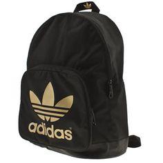 Adidas black & gold backpack.... I heart. I need.