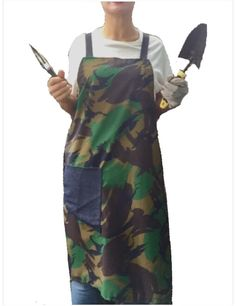 Camouflage apron, gardening apron, cooking apron. Mens apron A personal favourite from my Etsy shop https://www.etsy.com/uk/listing/255094936/camouflage-apron-camo-cotton-apron