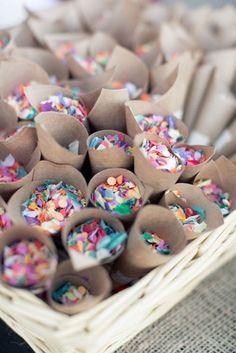 confetti cups for the reception