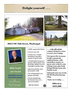 Real Estate for sale at $435,000! Come and view this four bedroom, four bath, 2442 square foot wonderfully remodeled tri-level Sunnyside home on a large gently sloping 2.42 acres located at 30613 NE 10th Street, Washougal, Washington 98671 in Clark County area 33 which is the Washougal area. The RMLS number is 17182431. It has two fireplaces and a territorial view which includes a view of a mountain. It was build in 1967 and has a detached two car garage. The local high school is Washougal…