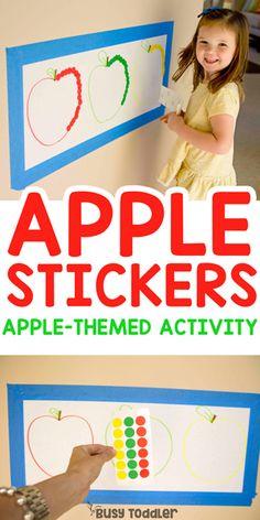 Apple Sticker Sort Math Activity #busytoddler #toddler #toddleractivity #easytoddleractivity #indooractivity #toddleractivities #preschoolactivities  #homepreschoolactivity #playactivity #preschoolathome