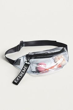 UO Clear Plastic Extreme Bum Bag Clear Bags 30b2785a1ff1