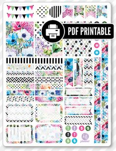 One PDF PRINTABLE file for use in your Erin Condren life planner, Filofax, Plum Paper, etc! ‣ Printable (downloadable) file ONLY. Nothing will be