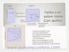 patrón falda quillas