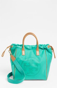 Tory Burch 'Small' Perforated Logo Drawstring Tote available at Nordstrom