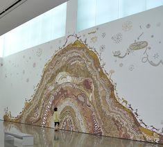 Intricate Mud Paintings on School Walls in India by Yusuke Asai