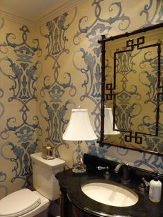 Love this wallpaper....or stencil? Courtney Price Design