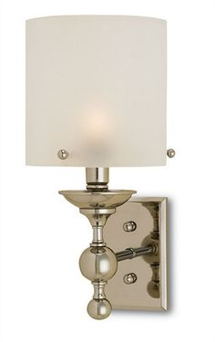 A Polished Nickel finish rejuvenates our classic Pennsbury Wall Sconce. With an eye toward the future while simultaneously demonstrating reverence for the past, this fixture calls on the influences of colonial turned wood to contrast a modern frosted glass shade. Certified for damp location. Shop Lovecup.com for designer wall sconces, floor lamps, table lamps and chandeliers.