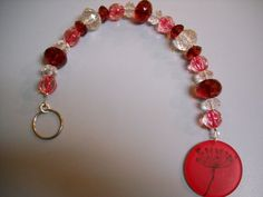 INDIAN SUMMER Ruby Red and Crystal Beaded by Beads4You2008 on Etsy, $9.50