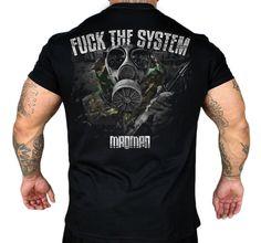 Koszulka 'Fuck The System' - tył ---> Streetwear shop: odzież uliczna, kibicowska i patriotyczna / Przepnij Pina!