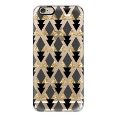 iPhone 6 Plus/6/5/5s/5c Case - Glitter Geometric Triangles in gold and... ($40) ❤ liked on Polyvore featuring accessories, tech accessories, phone cases, phone, electronics, cases, iphone case, slim iphone case, iphone cases and iphone cover case