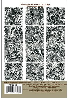 Anita Goodesign | Carried Away  Love the zentangle look and versatility of these blocks! Done.