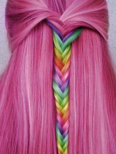 Looks Amazing Funky Hairstyles Women Long-Hot-Pink-Hair-w Hot Pink Hair, Hair Color Pink, Cool Hair Color, Hair Colours, Funky Hairstyles, Pretty Hairstyles, Burgundy Hairstyles, Rainbow Hairstyles, Formal Hairstyles