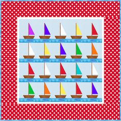 I just designed a little boys sailboat quilt and thought I would share it with everyone. Email me if you're confused about any part of it. E...