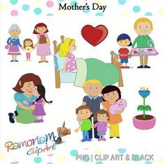 Mother's Day clip art - mothers receiving the love they deserve!