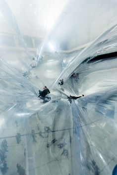 On Space Time Foam by artist Tomás Saraceno